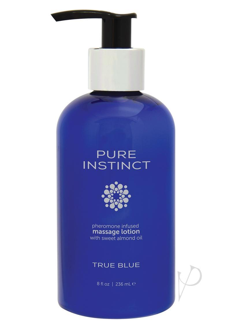 Pure Instinct Pheromone Massage Lotion True Blue 8oz